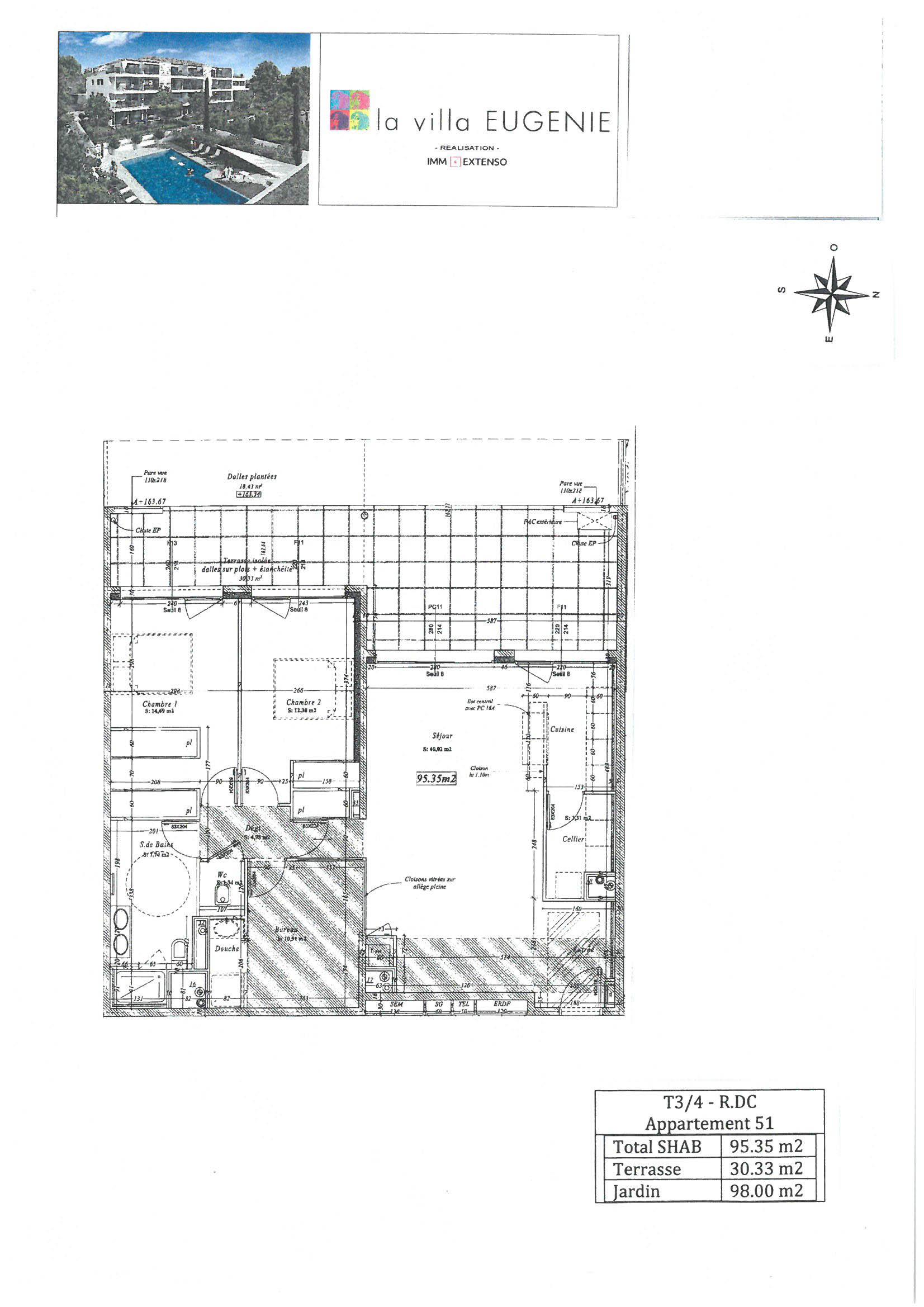 appartement 51 de type T4